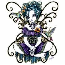 hummingbird, birds, gohtic, lillian, fairy, faerie, faery, fae, fairies, tiger, lilies, lilly, fantasy, art, myka, jelina, hummingbirds, Photo Sculpture with custom graphic design