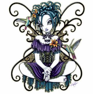 """Lillian"" Gothic Hummingbird Fairy Photo Sculpture"