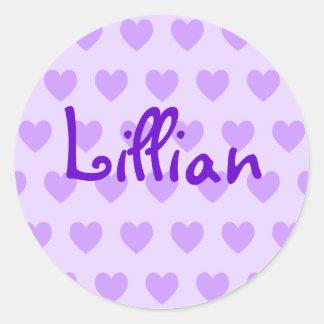 Lillian in Purple Classic Round Sticker