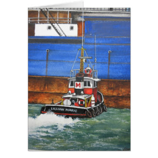 Lillian Marie boat, by Jim Ott Card