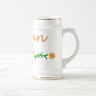 Lillian (mariposa anaranjada) taza de café