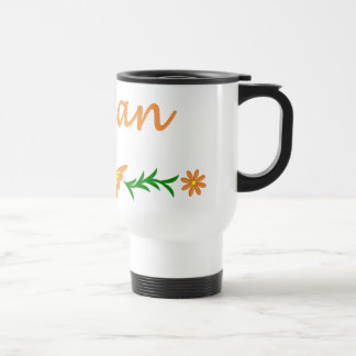 Lillian (mariposa anaranjada) taza térmica