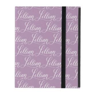 Lillian - Modern Calligraphy Name Design iPad Cover
