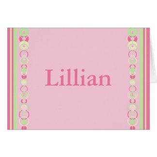 Lillian Modern Circles Custom Name Card