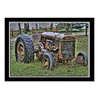 Lillian Photography HDR Old Tractor Poster