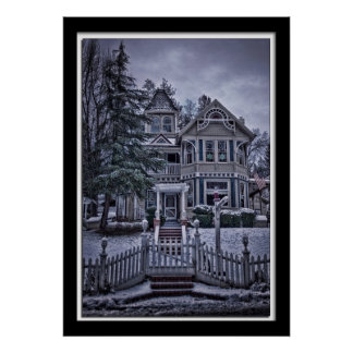 Lillian Photography Old Victorian House Poster