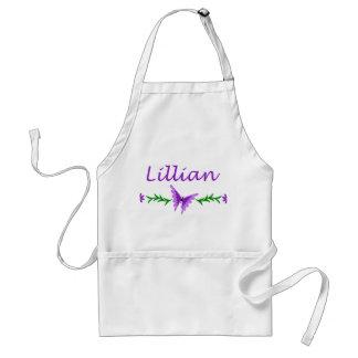 Lillian Purple Butterfly Aprons