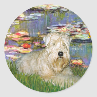 Lillies 2 - Terrier de trigo 1 Pegatinas Redondas