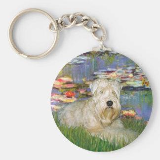 Lillies 2 - Wheaten Terrier 1 Keychain