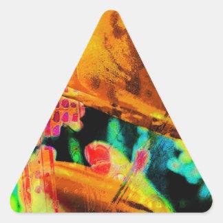 Lillies abstracto pegatina triangular