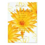 Lillies amarillos - invitaciones del boda invitación 12,7 x 17,8 cm