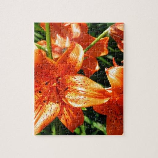 Lillies anaranjado rompecabezas con fotos