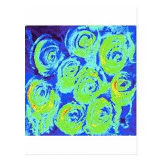 Lillies azul postales