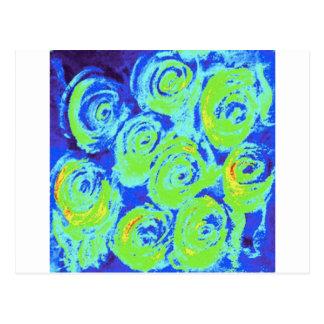 Lillies azul tarjeta postal