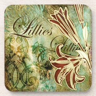 Lillies Beverage Coasters