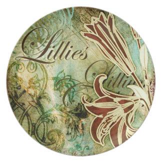 Lillies Dinner Plates