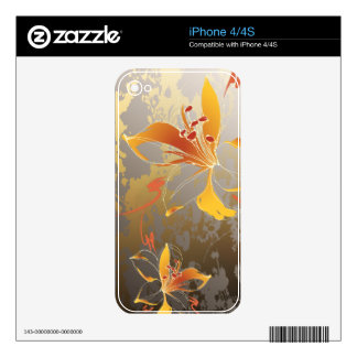 Lillies Floral Zazzle Skin iPhone 4 Skins