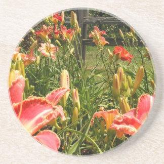 Lillies in the Garden Beverage Coaster