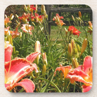 Lillies in the Garden Drink Coasters