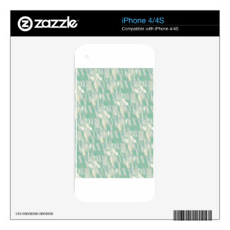 Lillies On Green iPhone 4S Decal