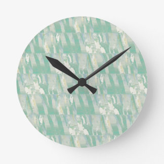 Lillies On Green Round Clock