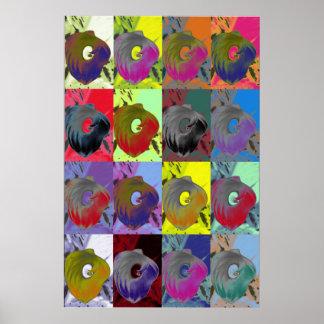 Lillies Pop Art Poster