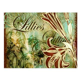 Lillies Postcard
