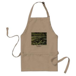 Lillies print on apron