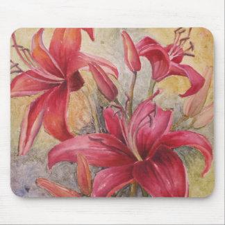 Lillies rojo tapetes de ratón