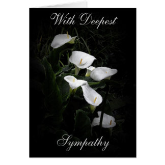 LILLIES WITH DEEPEST SYMPATHY GREETING CARD