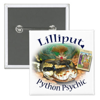 Lilliput Python Psychic with The Lovers Card Pinback Button