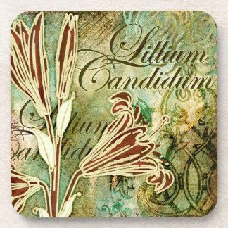 Lillium Candidum Coasters