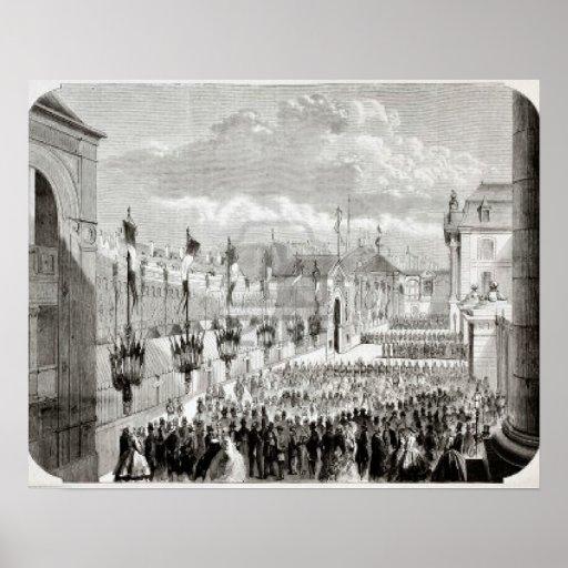 L'Illustration, universo del diario, París, 1858 Poster