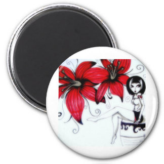 Lilly 2 Inch Round Magnet