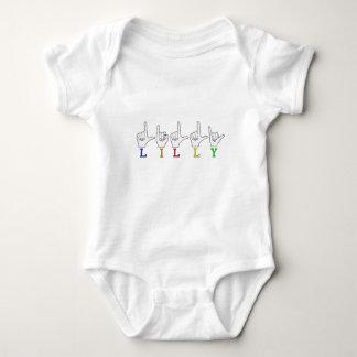 LILLY ASL FINGERSPELLED NAME SIGN INFANT CREEPER
