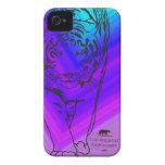Lilly - azul/púrpura del caso del iPhone 4/4S del  iPhone 4 Cobertura