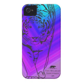 Lilly - azul púrpura del caso del iPhone 4 4S del iPhone 4 Cobertura