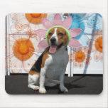 Lilly - beagle -2 alfombrilla de ratones