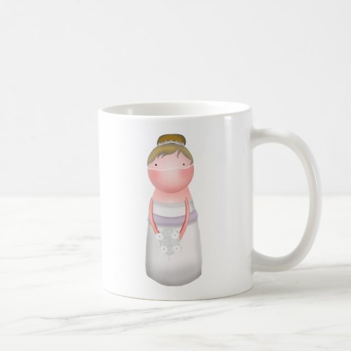 Lilly Bugs Blonde Haired Bride Mug