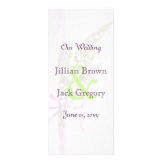 """Lilly del programa del boda del valle folleto publicitario 4"""" x 9"""""""