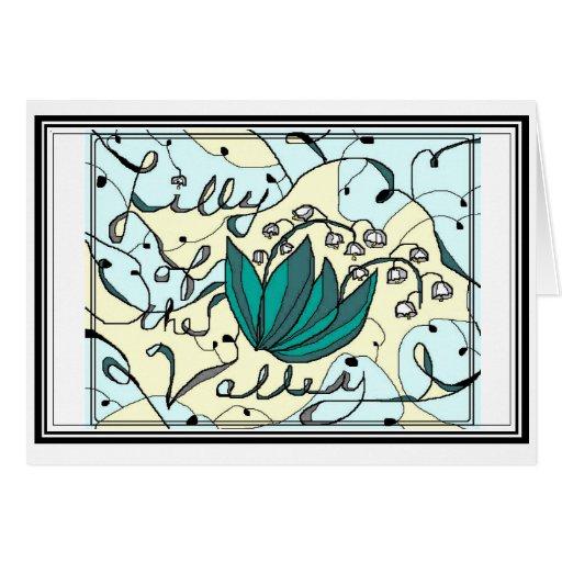 Lilly del valle tarjeton
