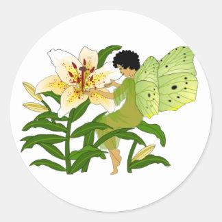 Lilly Fairy Classic Round Sticker