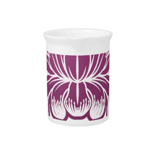 Lilly Flower Floral Design Concept Icon Drink Pitcher