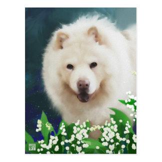 LILLY heARTdog chow postcard