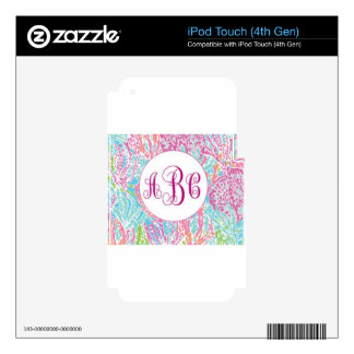Lilly Inspired Pattern iPod Touch 4G Decal