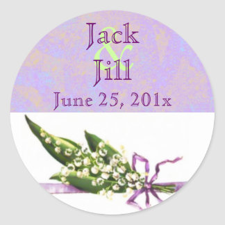 Lilly of the Valley BRIDAL date sticker
