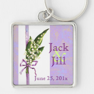 Lilly of the Valley BRIDAL keychain
