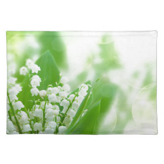 Lilly of the valley cloth placemat
