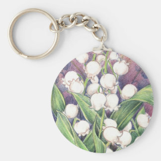 Lilly of the Valley Keychains