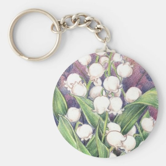 Lilly of the Valley Keychain